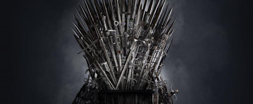 """żelazny tron z serialu """"Gra o tron"""""""